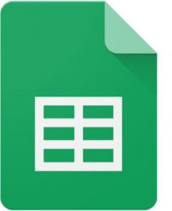 Icon indicating document is google sheets